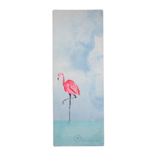 premium yoga mat balancing flamingo