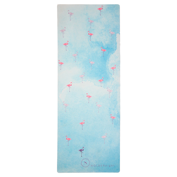 premium yoga mat flamingos