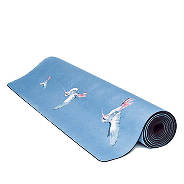 premium yoga mat humming birds roll