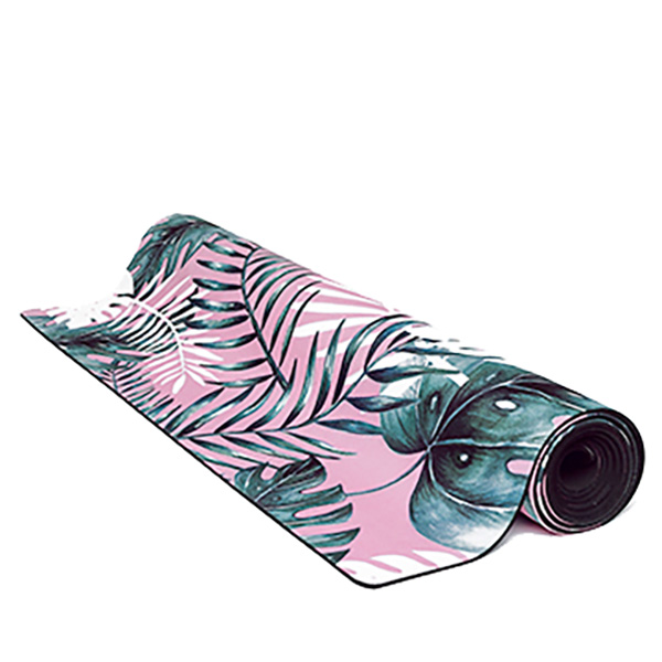 premium yoga mat summer leaf roll