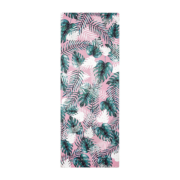 premium yoga mat summer leaf