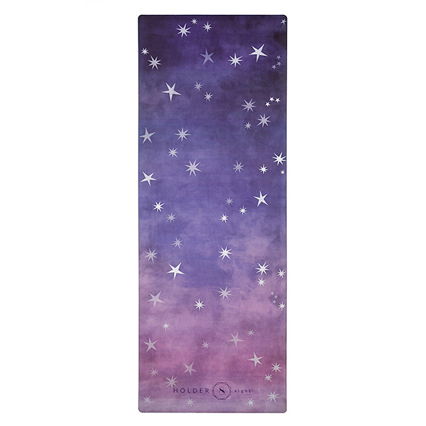 premium yoga travel mat night sky flat