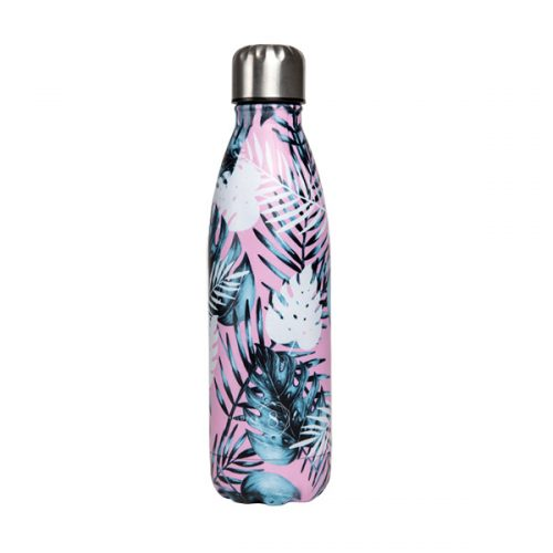 premium yoga water bottle summer leaf