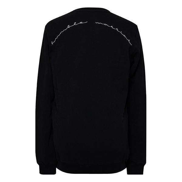 premium organic cotton sweatshirt humble warrior charcoal front