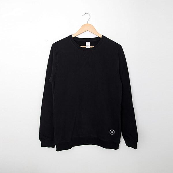premium organic cotton sweatshirt humble warrior charcoal hanger
