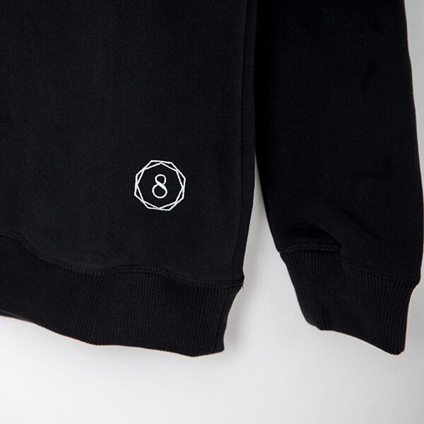 premium organic cotton sweatshirt humble warrior charcoal hanger sleeve