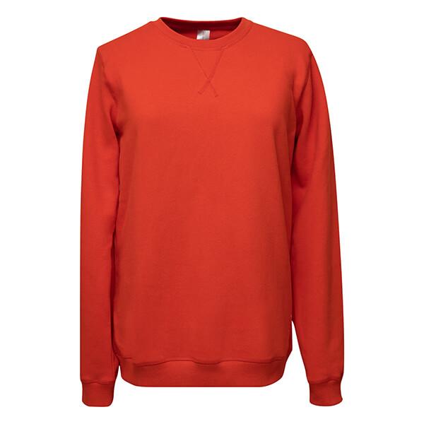 premium organic cotton sweatshirt wander with love red front