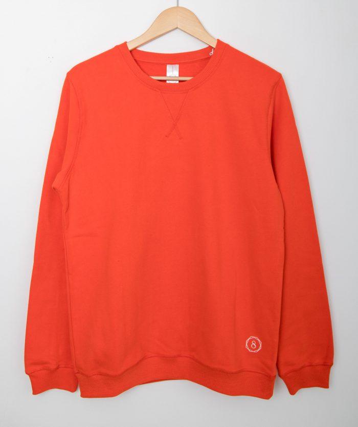 premium organic cotton sweatshirt wander with love red hanger