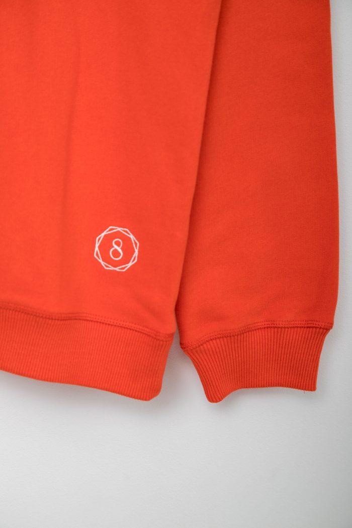 premium organic cotton sweatshirt wander with love red sleeve