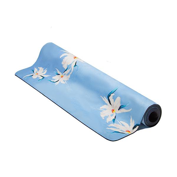 premium yoga mat floating orchids roll
