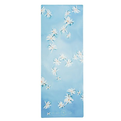 premium yoga travel mat floating orchids flat